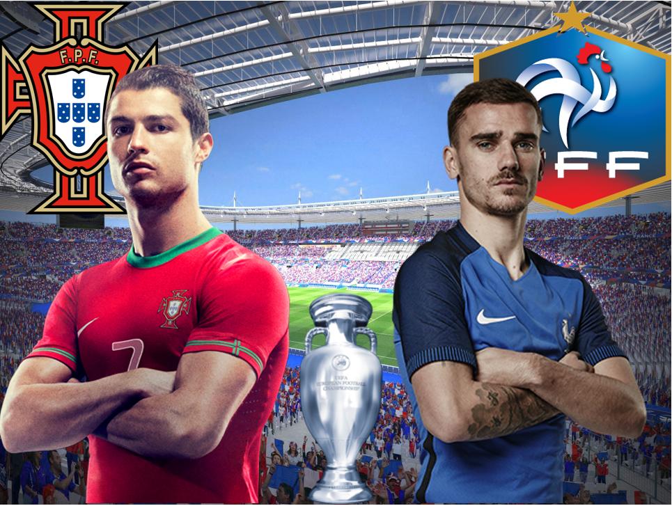 Det är dags för EM-final, Portugal - Frankrike!